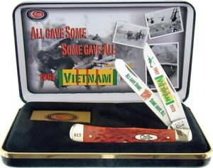 Case xx Trapper Knife Vietnam War Jigged Red Bone Limited Edition CAT-VIET