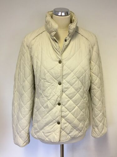 Jacket Ivory Size 16 Jaeger Quilted TRczUP