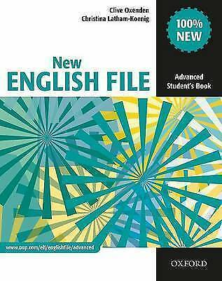 New English File Advanced Student S Book Six Level General English Course For Adults By Christina Latham Koenig Clive Oxenden Paperback 2010 For Sale Online Ebay