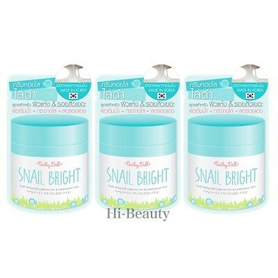 3 Cathy Doll Snail Bright Whitening Cream Dry & Combination Skin Travel Size 6g