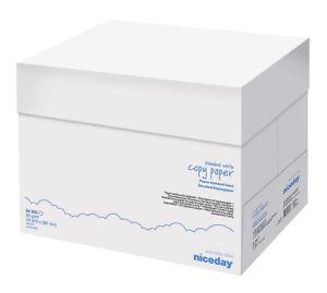 Niceday DIN A4 80g/m² Kopierpapier - Weiß, 5x500 Blatt (5311521)