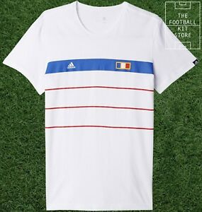 France T-shirt-Official Adidas French Football History Thé-Mens-All Sizes  </span>
