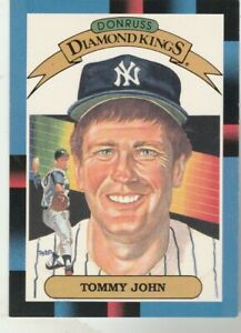 FREE-SHIPPING-MINT-1988-Donruss-17-Diamond-Kings-Tommy-John-New-York-Yankees