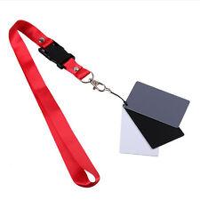 3 in 1 Pocket-Size Digital White Black Grey Balance Cards 18% Gray Card 0T