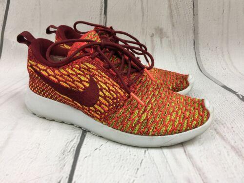 Rojo o Flyknit Nike Zapatillas mujer para 6 704927 One amarillo 600 Run Roshe Tama v1Wxw7qT