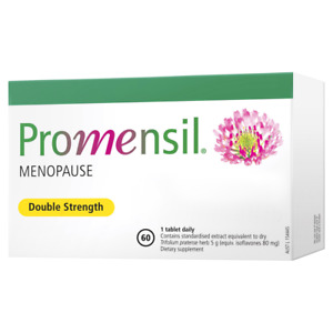 Promensil Double Strength Menopause Relief 60 Tablets Hot Flushes Night Sweats