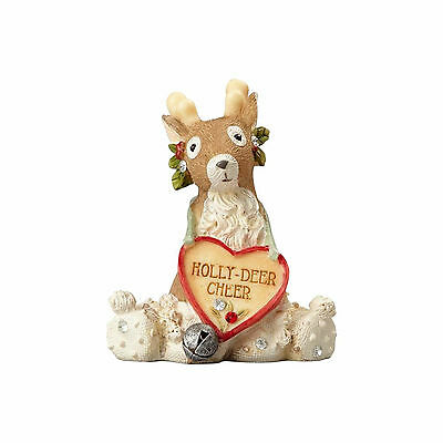 Heart of Christmas REINDEER with WHITE HAT New 2017 Karen Hahn DEER 4058270