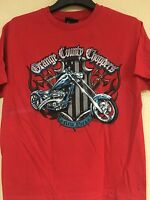 Orange County Choppers Youth Sizes Red Color Licensed T-shirt - Free Shipping