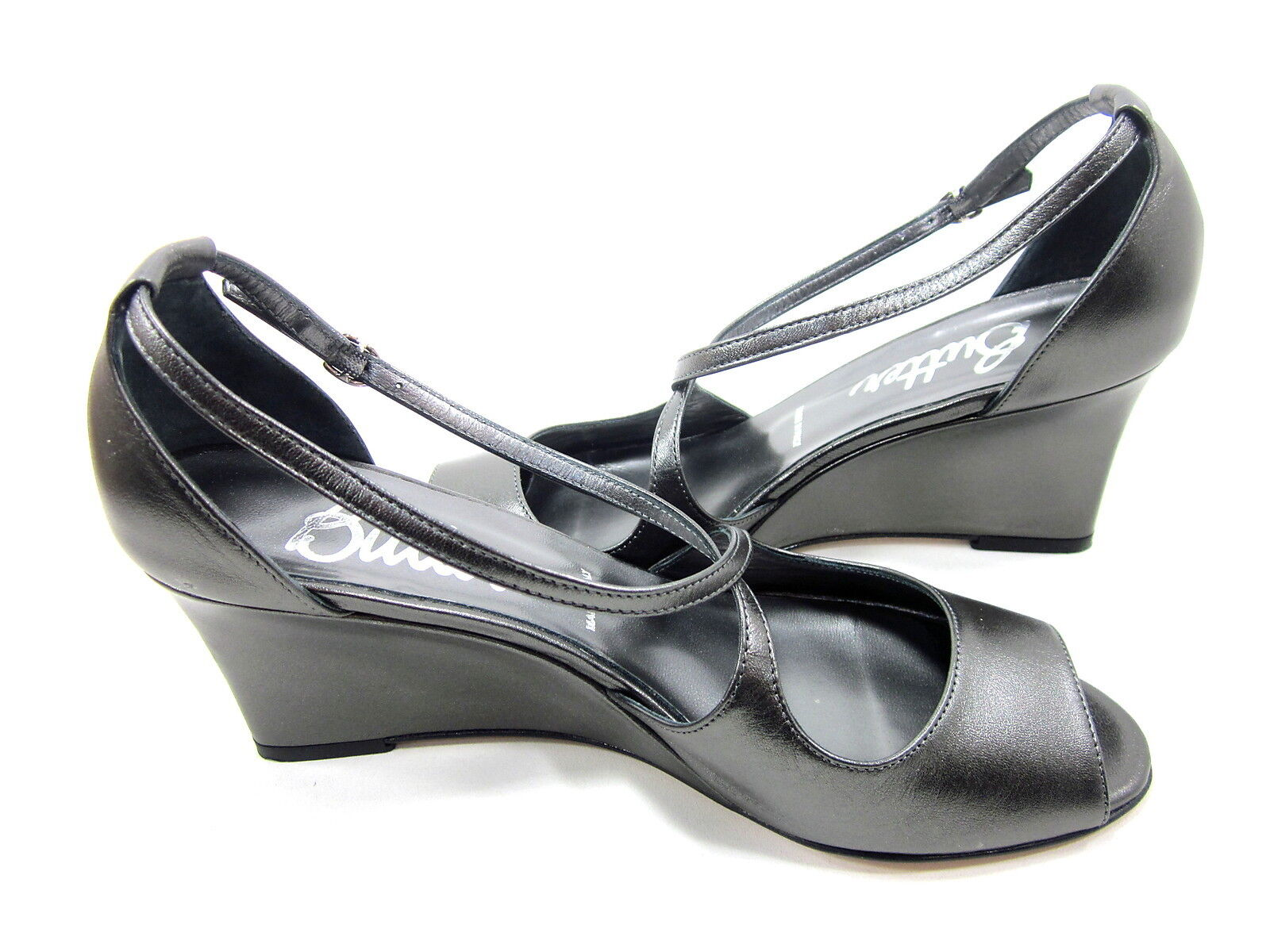 BUTTER, ANTHRACITE SHOWW PEEP PEEP SHOWW TOE WEDGE, Donna, ANTHRACITE BUTTER, METALLIC   910eb0