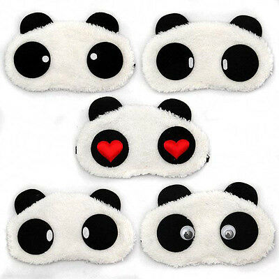 Cute Panda Face Eye Portable Travel Sleep Cutely Lightproof Mask Nap Cover