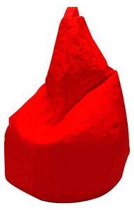 poltrona sacco bean bag pouf puff in nylon rosso solo fodera