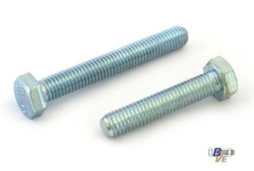 100 Sechskantschrauben DIN 933 8.8 verzinkt M 8x80