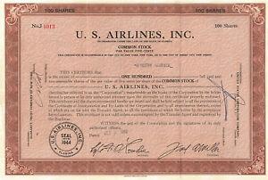 U-S-Airlines-stock-certificate-gt-1952-Florida