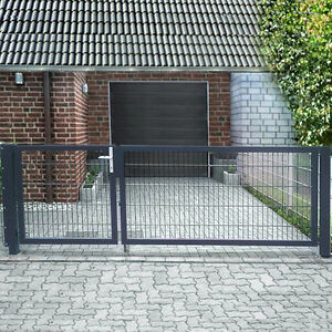 einfahrtstor 2 fl gelig asymmetrisch grau tor doppeltor. Black Bedroom Furniture Sets. Home Design Ideas