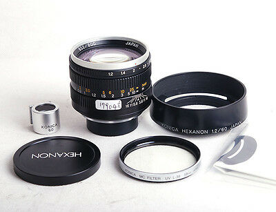 RARE Konica Hexanon 60mm f/1.2 Leica L/M Limited black