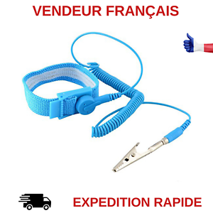 BRACELET-ANTISTATIQUE-ELECTRICITE-STATIQUE-DECHARGE-ELECTRONIQUE