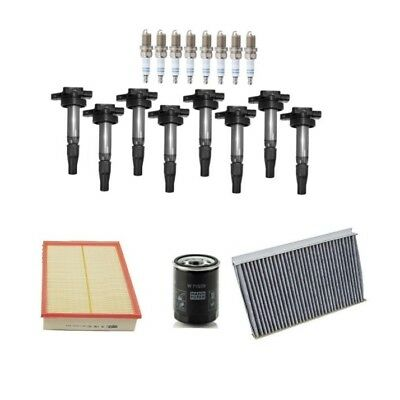 Tune Up Kit Cabin Air Filter Spark Plugs for Land Rover Range Rover 4.4L 06-09