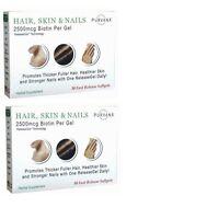 Lot Of 2 Purvana Hair, Skin & Nails Wellgenix 30-softgels - Same Day Shipping