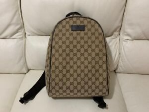 5bed8edad3 GUCCI BEIGE DOUBLE G GUCCISIMA RUCKSACK BACKPACK BAG BRAND NEW | eBay