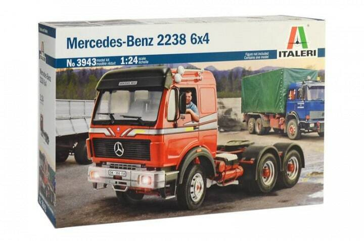 ITALERI 1 24 KIT IN PLASTICA CAMION MERCEDES BENZ 2238 6X4 ART 3943