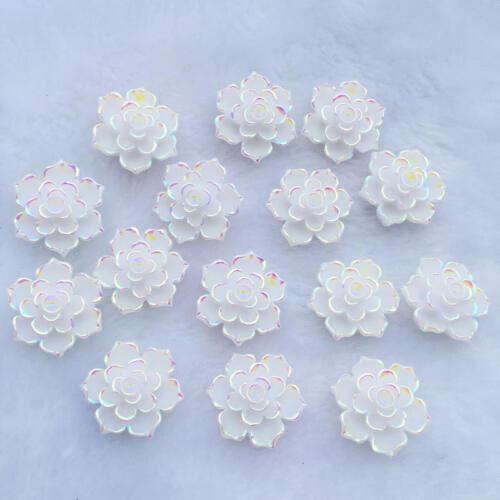18mm Accesorios Hágalo usted mismo Boda Decoración-A14 Diamantes de imitación de resina Piedra de flores de 20 un