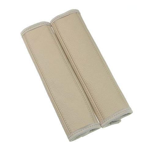 Gurtpolster Gurtschoner Gurtschutz 1 Paar 2 Stück Echtes Leder Farbe Beige
