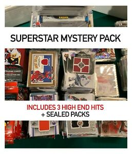 SUPERSTAR MYSTERY PACK -  INCLUDES 3 HIGH END HITS + SEALED PACKS
