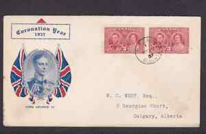 Canada 1937 KGVI FDC 1st day cover with Calgary CDS cancel