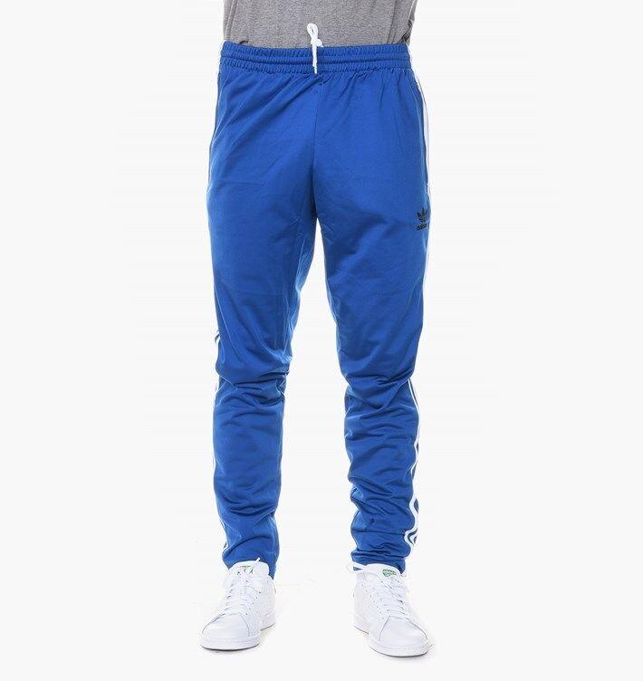 adidas Originals Open Hem Trackpant Sizes XS-XXL Blue RRP BNWT AJ6984