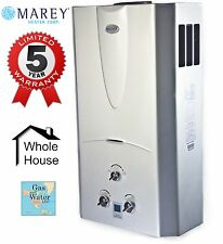 Gas Tankless Water Heater 3.1 GPM Propane Gas (LPG) - Digital Display by Marey