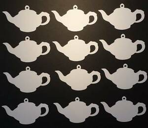 12 Teapot shaped Gift Tags//labels