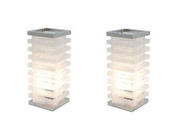 GemäßIgt Touch Tischleuchte 2er Set Deko Tischleuchte Tower Nachttischlampe Tischlampe
