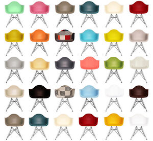 DAR-Style-Arm-Chair-Scandi-Retro-Plastic-Seat-with-Chrome-Eiffel-legs