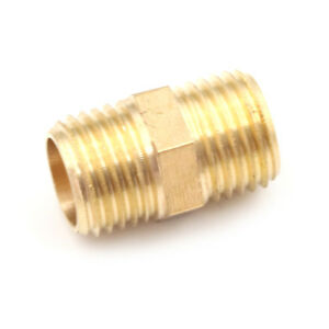 Metal-Solid-Brass-1-4-034-PT-Male-Thread-Water-Hose-Pipe-Straight-Connector-FF