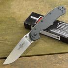 Ontario Rat Model 1 Black Handle Plain Edge AUS 8 Folding Knife 8848