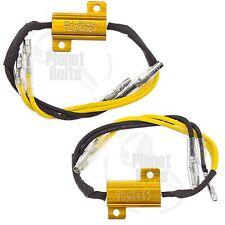 Pair Resistors LED Turn Signal Flash Control Load Hyper Flash Fast Blink Limiter