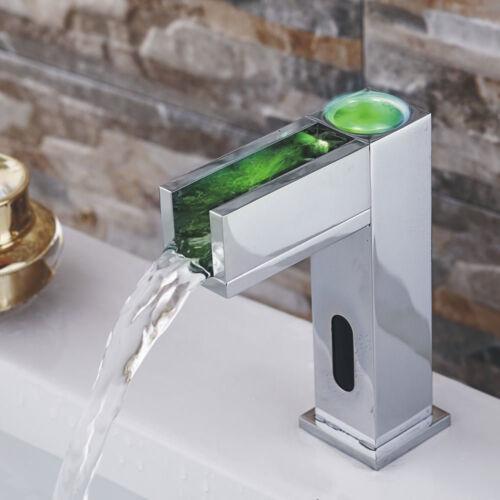 und Warmwasser IR Infrarot LED Automatik Armatur Waschbecken Chrom Kalt