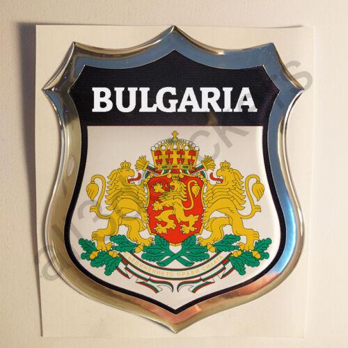 Sticker Bulgaria Emblem Coat of Arms Shield 3D Resin Domed Gel Vinyl Decal Car