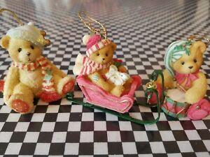 Ornaments 3 Cherished Teddies from Enesco