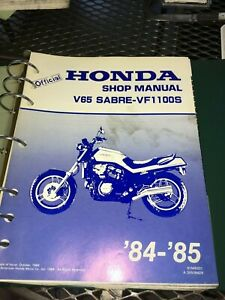 GENUINE-HONDA-SERVICE-SHOP-MANUAL-VF1100S-V65-SABRE-1984-1985-Ry23a