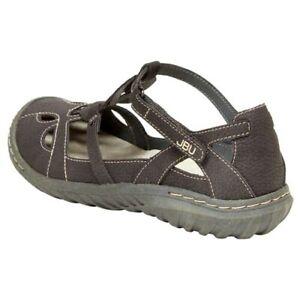JBU-Women-039-s-Sydney-Sandal-Memory-Foam-Footed-CHARCOAL-Pick-Size-NEW