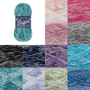 King-Cole-Vogue-DK-100-Cotton-Knitting-Yarn-Wool-Crochet-50g-Ball