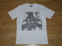 Men's Star Wars Darth Vader White Short Sleeve T-Shirt Top. New. S M L XL (242)