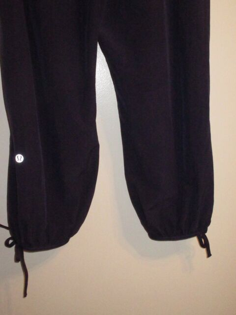 6711c04cfe602 Lululemon Athletica 6 Pants Navy Blue High Waist Rollover Fold Over  Drawstring