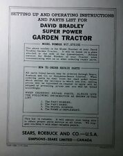 David Bradley Sears 917575102 Garden Tractor Amp Plow Owners Amp Parts 2 Manuals