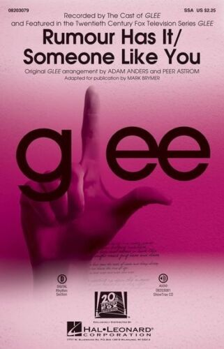 Choral Mash-up From Glee Piano Acco SSA Adele: Rumour Has It//Someone Like You
