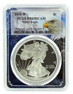 2010-W-1oz-Silver-Eagle-Proof-PCGS-PR69-DCAM-Eagle-Frame