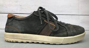 Ecco Ennio Retro Sneaker Shoe Charcoal