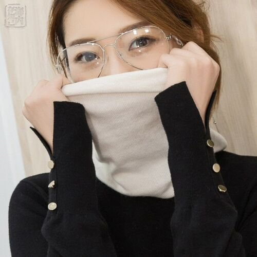Women/'s Wool Scarf Neck Warmer Angora Rabbit Cashmere Cowl Collar