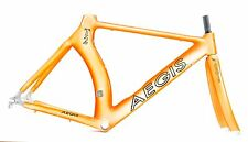 2004 Aegis T2 52 cm carbon frame set orange white English BB triathlon 4